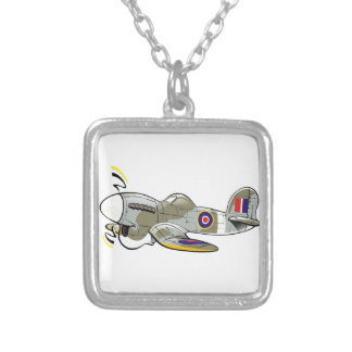 hawker typhoon silver plated necklace