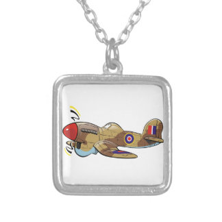 hawker typhoon square pendant necklace