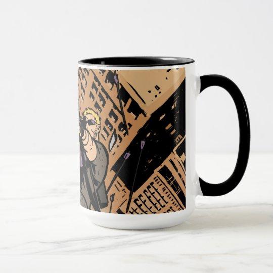 Hawkeye Falling From Window Mug
