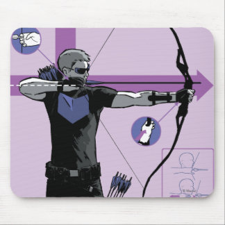 Hawkeye Technique Infographic Mouse Pad