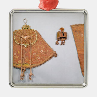 Hawking set of pouch, glove and hood, French Christmas Ornament