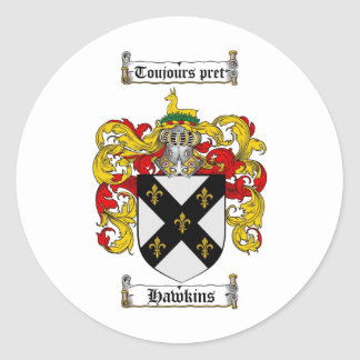 HAWKINS FAMILY CREST -  HAWKINS COAT OF ARMS STICKERS