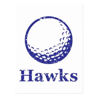 Hawks Golf Postcard