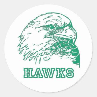 Hawks Logo Classic Round Sticker