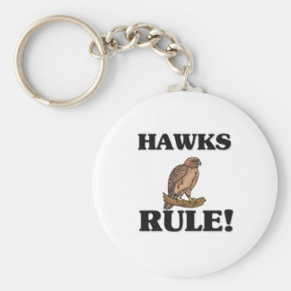 HAWKS Rule! Basic Round Button Key Ring