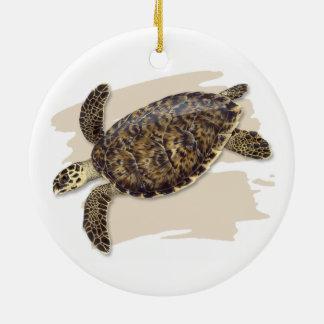 Hawksbill Sea Turtle Ceramic Ornament