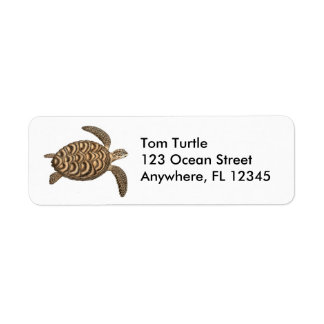 Hawksbill Sea Turtle Label