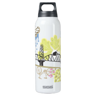 Hawthorne Bridge Liberty Bottle 16 Oz Insulated SIGG Thermos Water Bottle