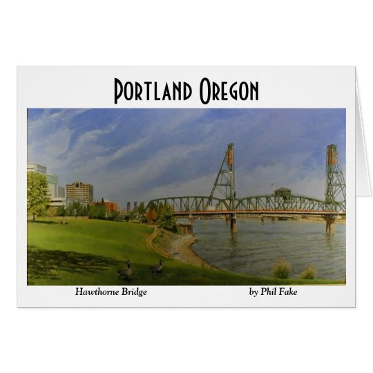 Hawthorne Bridge note card