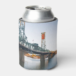Hawthorne Bridge Portland Daytime Can Cooler