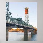 Hawthorne Bridge Portland Daytime Poster