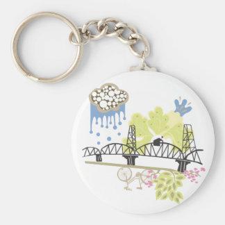 Hawthorne Bridge Portland Keychain