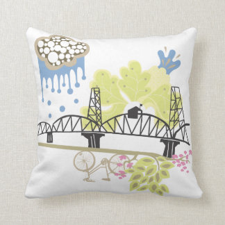Hawthorne Bridge Portland Oregon Pillow