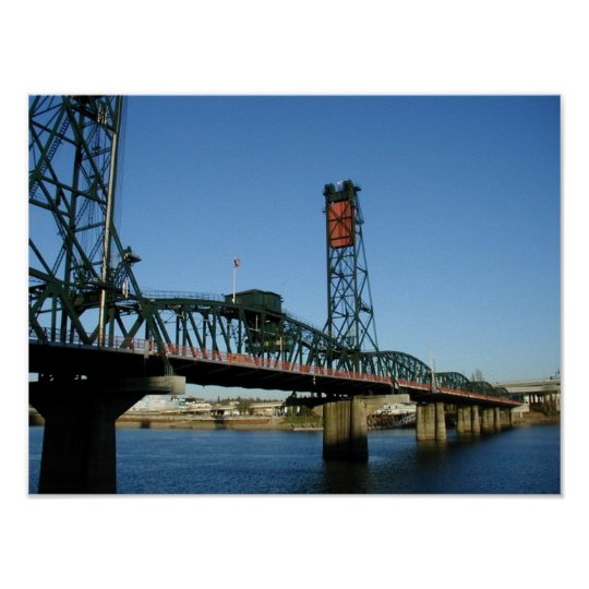Hawthorne Bridge, Portland Oregon Poster
