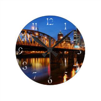 Hawthorne Bridge Round Clock