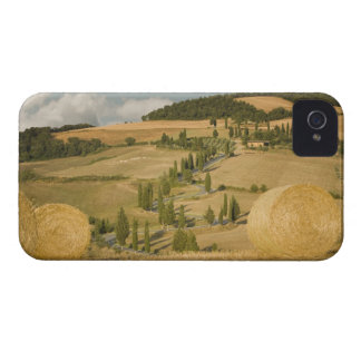 Hay bale and rolling landscape, Tuscany, Italy iPhone 4 Covers