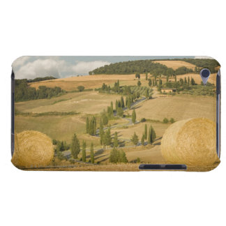 Hay bale and rolling landscape, Tuscany, Italy iPod Case-Mate Case