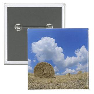 Hay Bales in Field, Pienza, Val d'Orcia, Siena 15 Cm Square Badge