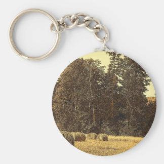 Hay Bales Key Ring