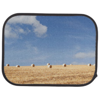 Hay Bales on Field Car Mat
