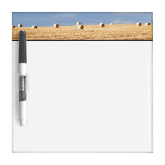 Hay Bales on Field Dry Erase Board