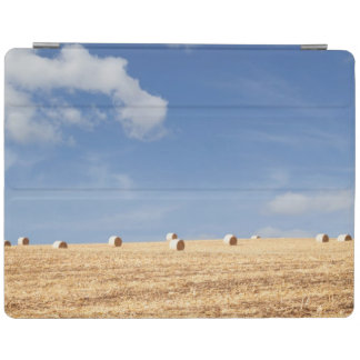 Hay Bales on Field iPad Cover