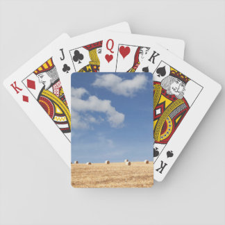 Hay Bales on Field Playing Cards