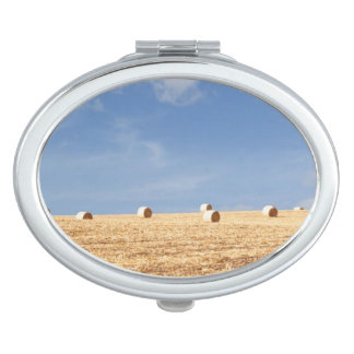 Hay Bales on Field Vanity Mirror