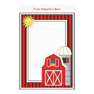 Hay Barn Agriculture Theme Kids Writing Paper