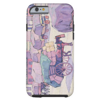 Hay Carts, Cumberland Market (oil on canvas) Tough iPhone 6 Case
