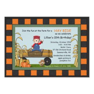 Hay Rides Invitation