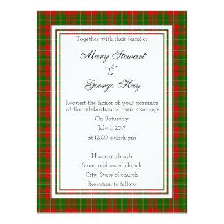 Hay Scottish Wedding Invitation