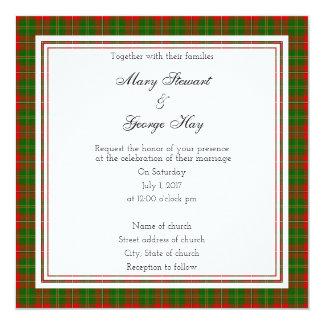 Hay Scottish Wedding Square Invitation