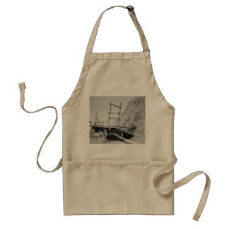 Hay stack and wagon – 1939. adult apron