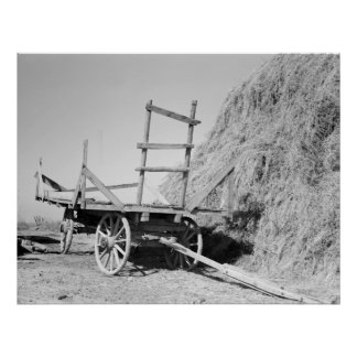 Hay stack and wagon – 1939. poster