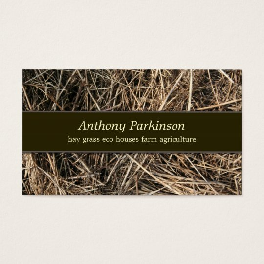 hay straw business card