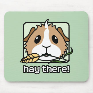 Hay There! (Guinea Pig) Mouse Mat