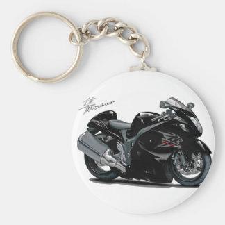Hayabusa Black Bike Basic Round Button Key Ring