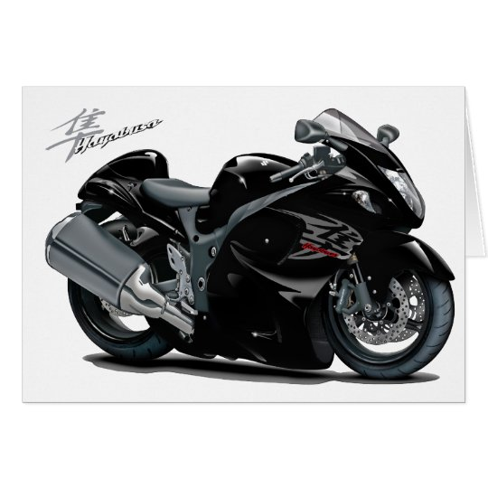 Hayabusa Black Bike Card