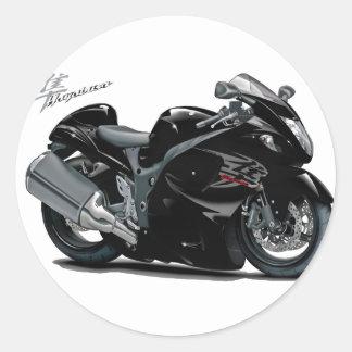 Hayabusa Black Bike Classic Round Sticker