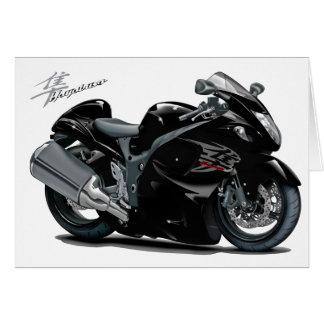 Hayabusa Black Bike Greeting Card