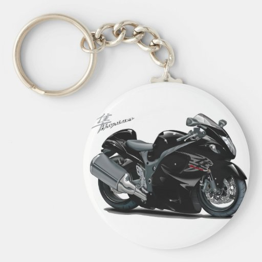Hayabusa Black Bike Key Chains