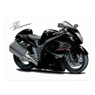 Hayabusa Black Bike Postcard