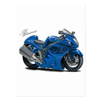 Hayabusa Blue Bike Postcard