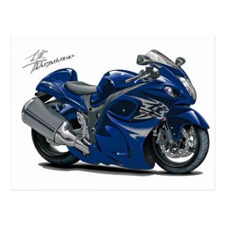 Hayabusa Dark Blue Bike Postcard