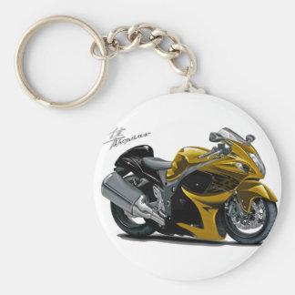 Hayabusa Gold Bike Basic Round Button Key Ring