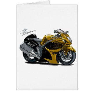 Hayabusa Gold Bike Greeting Card