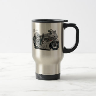 Hayabusa Grey Bike Coffee Mugs