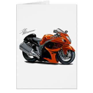 Hayabusa Orange Bike Card