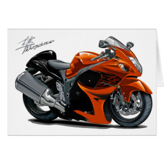 Hayabusa Orange Bike Greeting Card